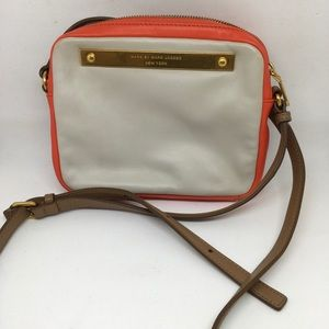 Marc by Marc Jacobs orange and cream crossbody